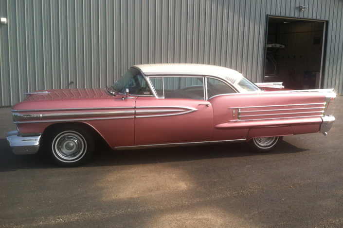 Classic 50s car detailing
