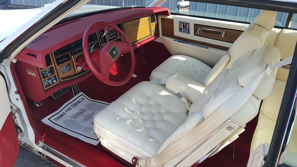 Vintage car interior detailing