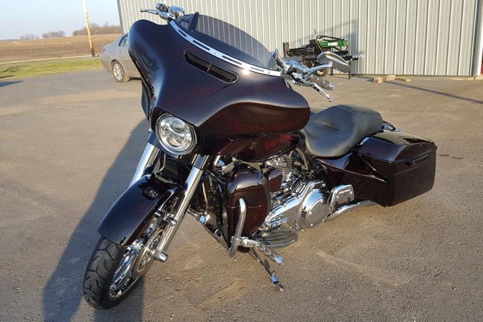 Harley Davidson motorcycle detailing