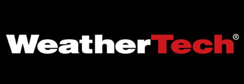 WeatherTech logo, floor liner, cargo liner, side window deflector, no drill mud flaps